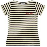 Maison Labiche Baby Doll Embroidered Mariniére T-Shirt - Women's Collection