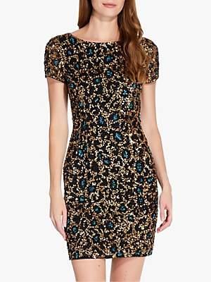 Adrianna Papell Beaded Mesh Dress, Multi