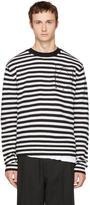 McQ Black and White Striped Glyph Logo Sweater