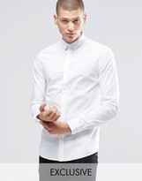 ONLY & SONS Skinny Shirt with Concealed Button Down Collar with Stretch