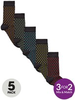 V By Very 5 Pk Plated Dash Socks Multi