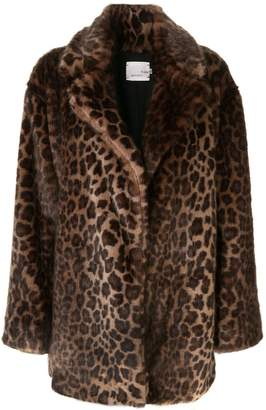 Bouguessa faux fur leopard print coat