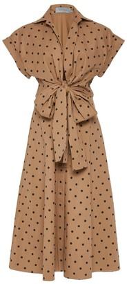 Silvia Tcherassi Rigone Short Sleeve Wrap Polka Dot Dress