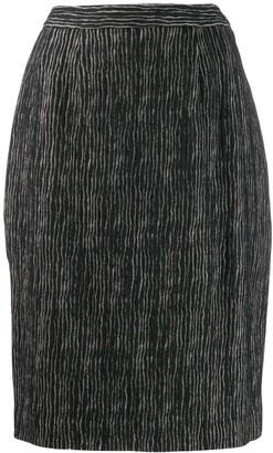 Balmain Pre Owned 1980's Striped Skirt