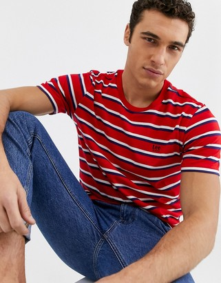 Lee Jeans stripe t-shirt in red