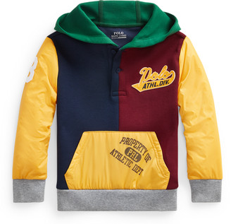 Ralph Lauren Colour-Blocked Hybrid Hoodie