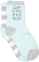 Free Press Pattern Fuzzy Socks - Pack of 2