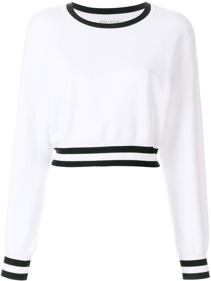 Alice + Olivia Alice+Olivia long sleeve cropped sweater
