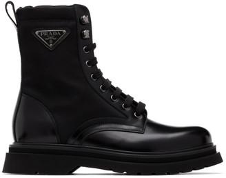 Prada Black Military Boots