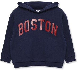 M&Co Boston slogan hoodie (9mths-5yrs)