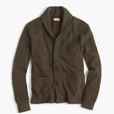 J.Crew Wallace & Barnes cotton shawl-collar cardigan in bird's-eye stitch