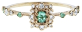 Kataoka Paraiba and Scattered Diamond Ring