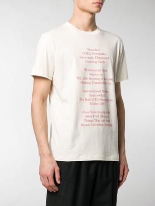 Raf Simons History Of The World T-shirt