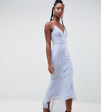 Asos Tall ASOS DESIGN Tall cami midi dress with lace Insert