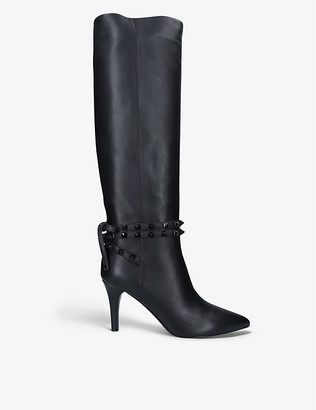 Valentino Rockstud Flair leather knee-high boots