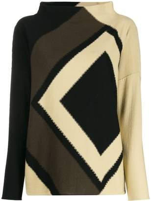 Pierantonio Gaspari Pierantoniogaspari geometric-print knit jumper