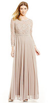 Cachet Beaded Lace Bodice Gown