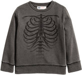 H&M Washed-look Sweatshirt - Black washed out - Kids