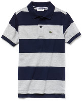 Lacoste Boys' Striped Cotton Petit Pique Polo Shirt