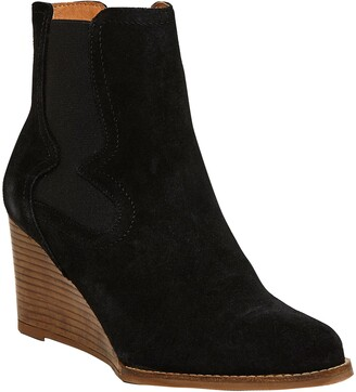 Andre Assous Sadie Suede Wedge Chelsea Boot