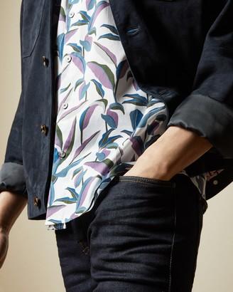 Ted Baker GLAMPIN Short sleeved leaf print cotton shirt
