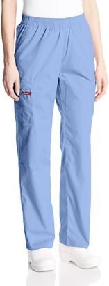 Dickies Women's Signature Elastic Waist Scrubs Pant - Blue - XS