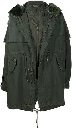 Mr & Mrs Italy x Nick Wooster panelled parka coat