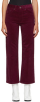Marc Jacobs Burgundy Corduroy Cropped Trousers