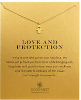 Dogeared Love and Protection 14K Gold-Dipped Hamsa Necklace
