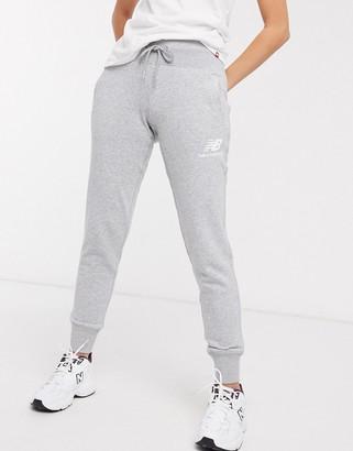 New Balance Logo Joggers in grey
