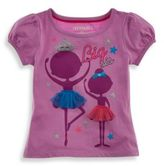 Kidtopia Size 18M Big Sis Ballerinas Tee in Purple
