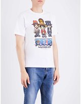 A Bathing Ape X One Piece Luffy & Brothers X Milo Cotton-jersey T-shirt