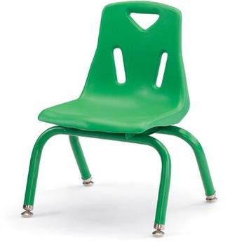 Jonti-Craft Berries Classroom Chair Frame Finish: Powder Coated, Seat Color: Blue, Seat Height: 10""