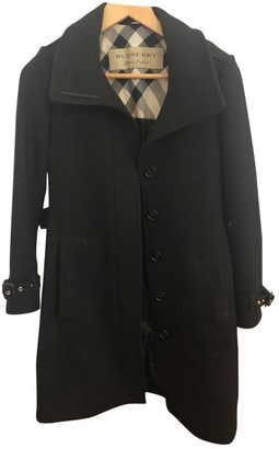 Burberry Navy Cashmere Trench coats