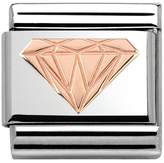 Nomination Couture Rose Gold Diamond Pattern Classic Charm 430104/18