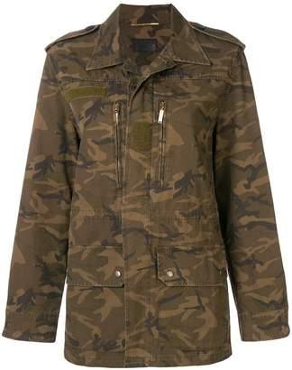 Saint Laurent camouflage print military jacket