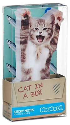 Mustard Cat In A Box Sticky Notes