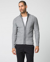 Le Château Cotton Blend Funnel Neck Cardigan