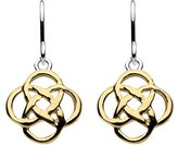 Heritage Sterling Silver and Gold Plate Celtic Open Knotwork Drop Earrings