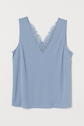H&M H&M+ Sleeveless Top - Blue