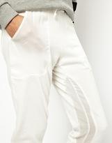 Asos Sweatpants in Slim Fit with Sheer Panel