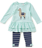Starting Out Baby Girls 12-24 Months Llama Tunic & Striped Leggings Set