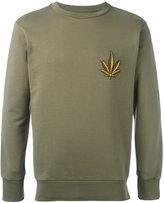 Palm Angels leaf embroidered sweatshirt