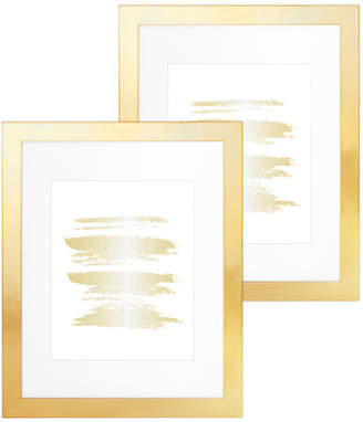"""Inqbrands Parkwood 11""""x14"""" Frame With 8""""x10"""" Mat, Set of 2, Gold"""
