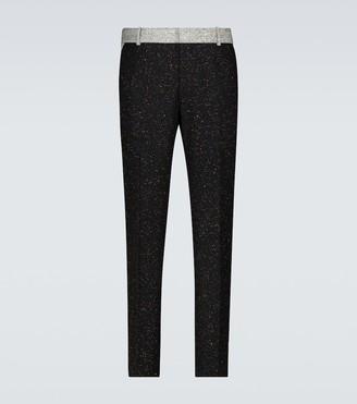 Alexander McQueen Donegal tweed wool-blend pants