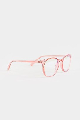 francesca's Alba Round Blue Light Glasses - Pink