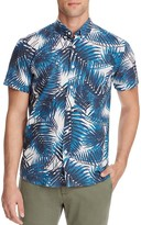 Saturdays Nyc Esquina Palm Print Slim Fit Button Down Shirt