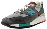 New Balance M998 Men Round Toe Suede Gray Tennis Shoe.
