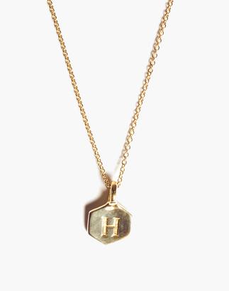 Madewell Odette New York Hex Monogram Necklace