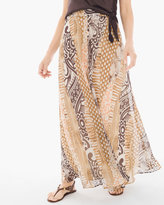 Chico's Pieced Animal-Print Maxi Skirt